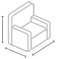 overall dimenssions icon
