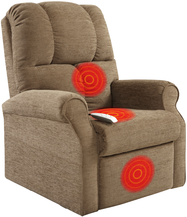 Zoned Heating Recliner